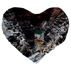 Karijini Canyon Large 19  Premium Heart Shape Cushions by trendistuff
