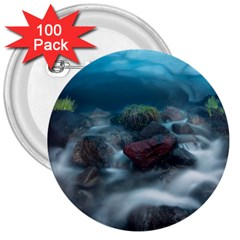 Iceland Cave 3  Buttons (100 Pack)  by trendistuff