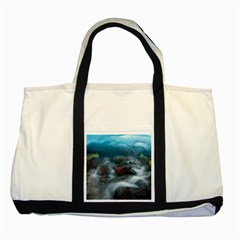 Iceland Cave Two Tone Tote Bag  by trendistuff