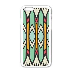 Rhombus And Arrows Pattern			apple Iphone 6/6s White Enamel Case by LalyLauraFLM
