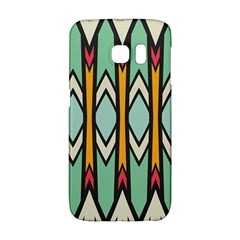 Rhombus And Arrows Pattern			samsung Galaxy S6 Edge Hardshell Case by LalyLauraFLM