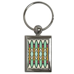 Rhombus And Arrows Pattern			key Chain (rectangle)