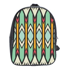 Rhombus And Arrows Pattern			school Bag (large) by LalyLauraFLM