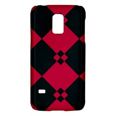 Black Pink Shapes Pattern			samsung Galaxy S5 Mini Hardshell Case by LalyLauraFLM