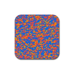 Pixels			rubber Square Coaster (4 Pack by LalyLauraFLM