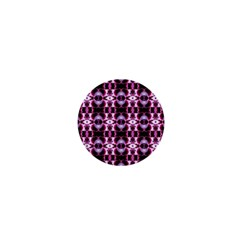 Purple White Flower Abstract Pattern 1  Mini Buttons by Costasonlineshop