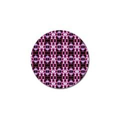 Purple White Flower Abstract Pattern Golf Ball Marker by Costasonlineshop