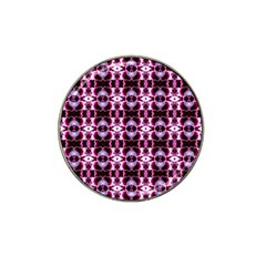 Purple White Flower Abstract Pattern Hat Clip Ball Marker (10 Pack) by Costasonlineshop