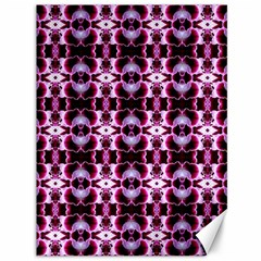 Purple White Flower Abstract Pattern Canvas 36  X 48   by Costasonlineshop
