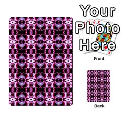 Purple White Flower Abstract Pattern Multi Purpose Cards (rectangle)  by Costasonlineshop