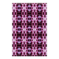 Purple White Flower Abstract Pattern Shower Curtain 48  X 72  (small)  by Costasonlineshop