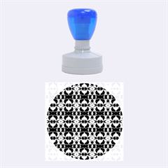 Purple White Flower Abstract Pattern Rubber Round Stamps (medium) by Costasonlineshop