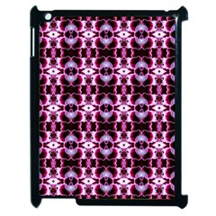 Purple White Flower Abstract Pattern Apple Ipad 2 Case (black) by Costasonlineshop
