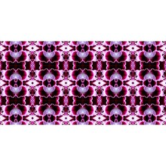 Purple White Flower Abstract Pattern You Are Invited 3d Greeting Card (8x4)