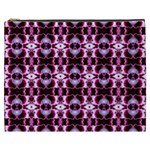 Purple White Flower Abstract Pattern Cosmetic Bag (XXXL)  Front