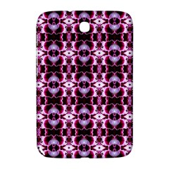 Purple White Flower Abstract Pattern Samsung Galaxy Note 8 0 N5100 Hardshell Case  by Costasonlineshop