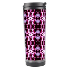 Purple White Flower Abstract Pattern Travel Tumblers by Costasonlineshop