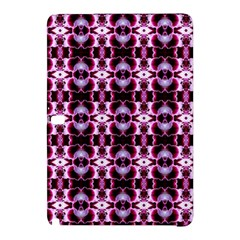 Purple White Flower Abstract Pattern Samsung Galaxy Tab Pro 12 2 Hardshell Case by Costasonlineshop