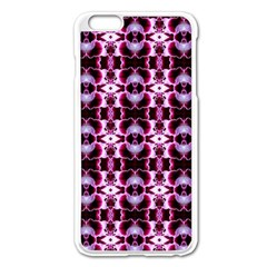 Purple White Flower Abstract Pattern Apple Iphone 6 Plus/6s Plus Enamel White Case by Costasonlineshop