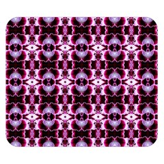 Purple White Flower Abstract Pattern Double Sided Flano Blanket (small)  by Costasonlineshop