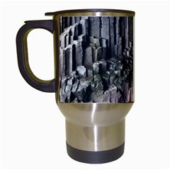 Fingals Cave Travel Mugs (white) by trendistuff