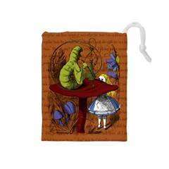 Alice In Wonderland Drawstring Pouches (medium)