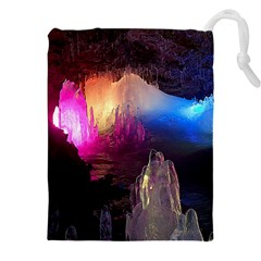 Cave In Iceland Drawstring Pouches (xxl) by trendistuff
