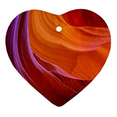 Antelope Canyon 2 Heart Ornament (2 Sides) by trendistuff