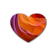 Antelope Canyon 2 Heart Coaster (4 Pack)  by trendistuff