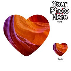 Antelope Canyon 2 Multi Purpose Cards (heart)  by trendistuff