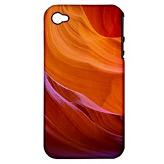 Antelope Canyon 2 Apple Iphone 4/4s Hardshell Case (pc+silicone) by trendistuff