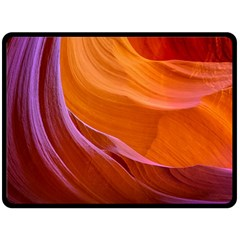 Antelope Canyon 2 Double Sided Fleece Blanket (large)  by trendistuff
