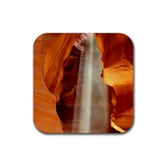 Antelope Canyon 1 Rubber Square Coaster (4 Pack)  by trendistuff
