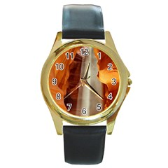 Antelope Canyon 1 Round Gold Metal Watches by trendistuff