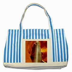 Antelope Canyon 1 Striped Blue Tote Bag  by trendistuff