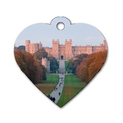 Windsor Castle Dog Tag Heart (two Sides) by trendistuff