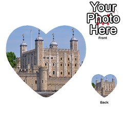 Tower Of London 2 Multi Purpose Cards (heart)  by trendistuff