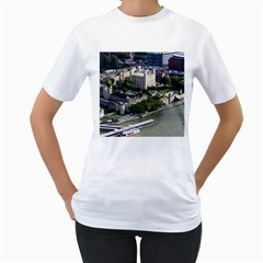 Tower Of London 1 Women s T Shirt (white) (two Sided) by trendistuff