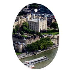 Tower Of London 1 Oval Ornament (two Sides) by trendistuff
