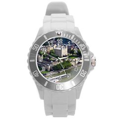 Tower Of London 1 Round Plastic Sport Watch (l) by trendistuff