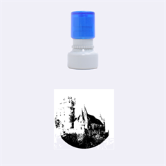 Segovia Castle Rubber Round Stamps (small) by trendistuff
