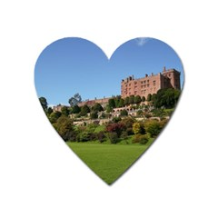 Powis Castle Terraces Heart Magnet by trendistuff