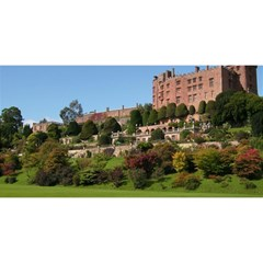 Powis Castle Terraces You Are Invited 3d Greeting Card (8x4)  by trendistuff