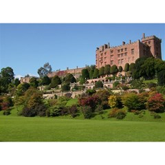 Powis Castle Terraces Birthday Cake 3d Greeting Card (7x5)  by trendistuff