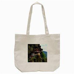 Paro Taktsang Tote Bag (cream)  by trendistuff