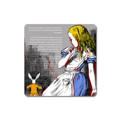 Alice In Wonderland Square Magnet by waywardmuse