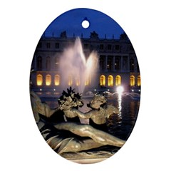 Palace Of Versailles 2 Oval Ornament (two Sides) by trendistuff