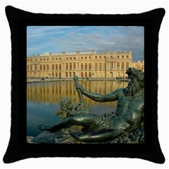 Palace Of Versailles 1 Throw Pillow Cases (black) by trendistuff