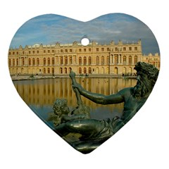 Palace Of Versailles 1 Heart Ornament (2 Sides) by trendistuff