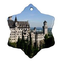 Neuschwanstein Castle 2 Snowflake Ornament (2 Side)